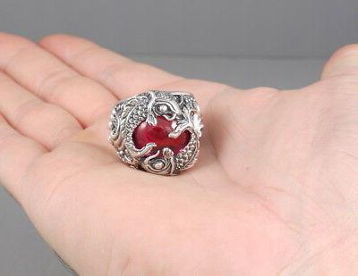 HEAVY LUCKY JAPANESE RED 925 RING