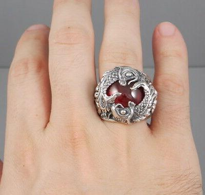 HEAVY LUCKY POWER JAPANESE 925 STERLING RING
