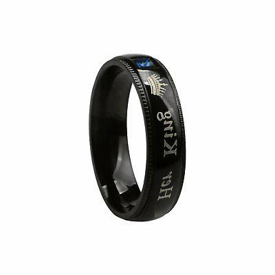 His Queen King Stainless Couple Engagement Band