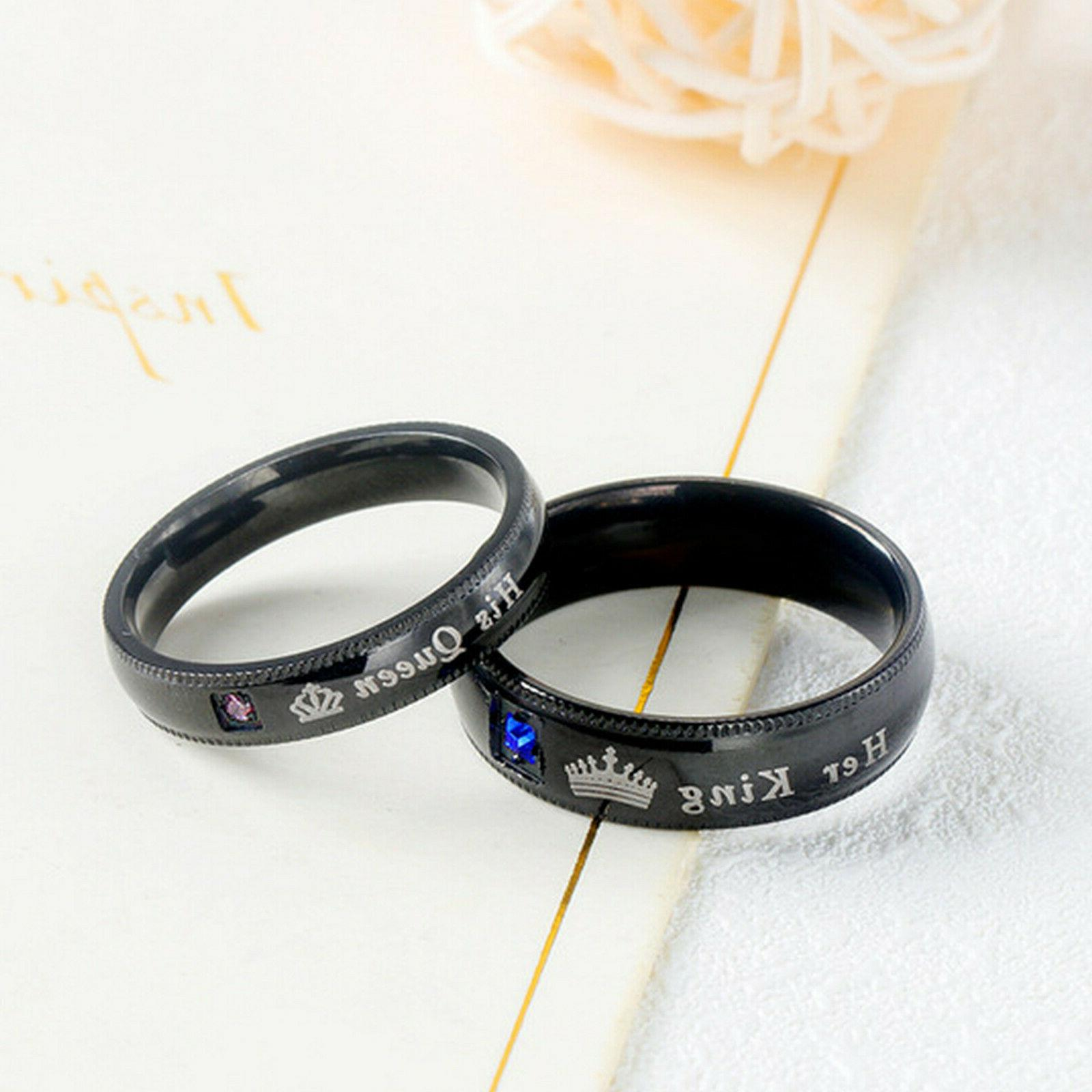 His or King Couple's Matching Ring Comfort Band