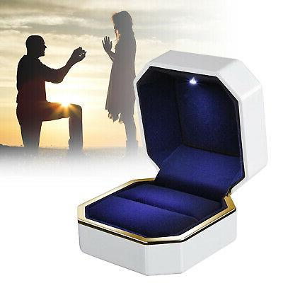 luxury jewelry ring box holder with led