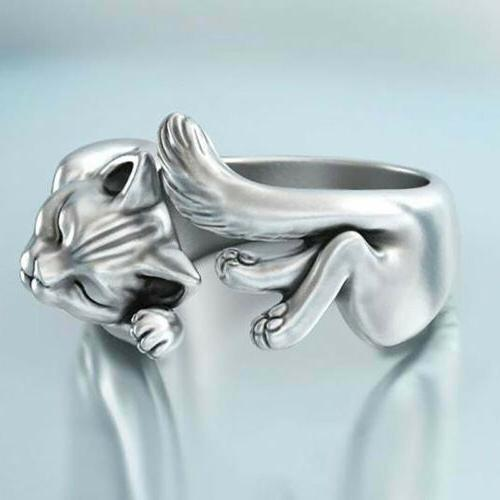 New Cat Adjustable Wedding Rings Gifts