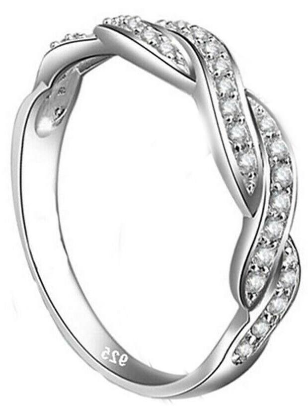 Real Sterling Silver Women's Engagement Ring or