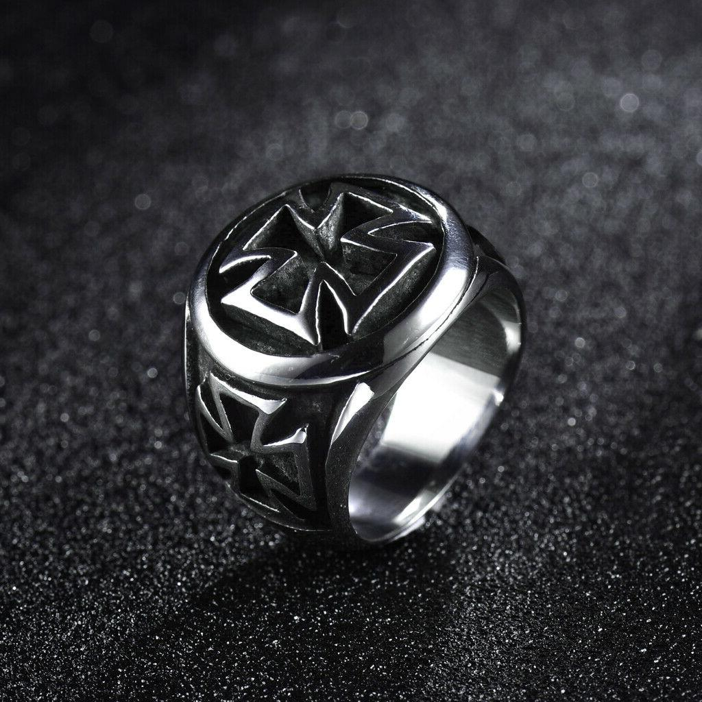 Solid Stainless Steel Gothic Punk Skull Ring