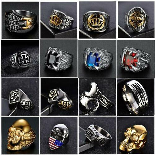 solid 316l stainless steel gothic punk motorcycle