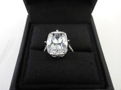 """Amazon Collection Sterling """"Kim"""" Ring Zirconia, 6"""