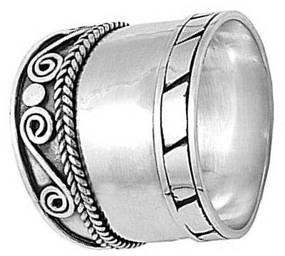 Sterling Silver Thick Heavy Bali 925 5-12