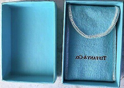 Tiffany Sterling Silver 1/2 Twist Rope Stacking Band Ring Box