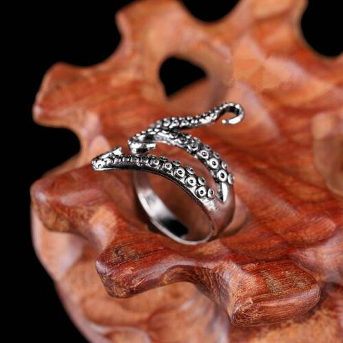 Punk Octopus Men Ring Jewelry Party Gift