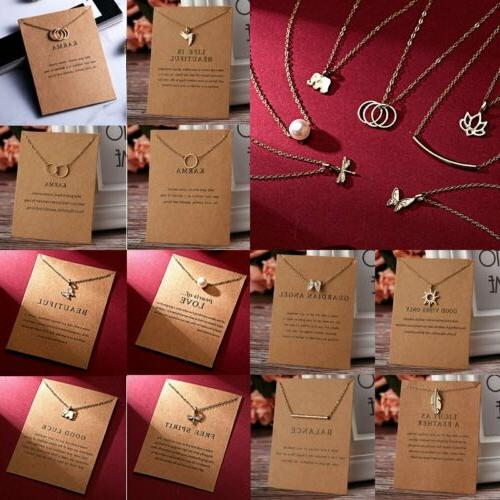 Womens Clavicle Necklace Pendant Gifts