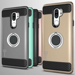 For LG G7 ThinQ Hybrid Armor Protective Ring Shockproof Phon