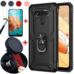For LG K51/LG Reflect Case Shockproof Stand Cover+Tempered G