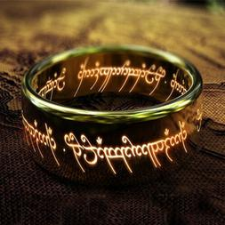 Lord of the Rings Stainless Steel Polished Boy Gold Fashion