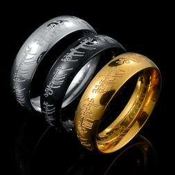 Lord of the Rings The One Ring Power Band 6mm Unisex Stainle