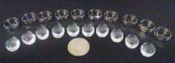 Lot Of 10 Cabochons And 10 Adjustable Cabochon Art Rings For