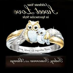 Lovely Animal Owl Rings Crystal Ring 2020 New Gifts Fashion