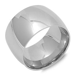 Men's Women's Wide Band Unique Stainless Steel Wedding Ring