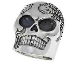 NEW King Baby Jewelry Men's Sterling Silver Koi Fish Skull R