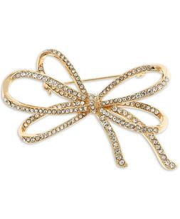 NEW Anne Klein Pave Bow Pin