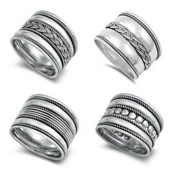 NEW! Sterling Silver 925 BALI DESIGN RING SIZES 4-12