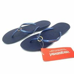 Havaianas NWT Ring Style Flip Flop Sandals Womens 6 W Navy B