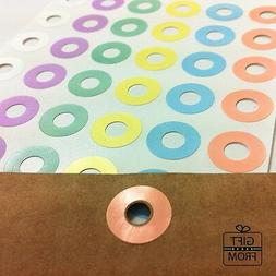 Pastel Round Hole Reinforcement Stickers_DIY Hang Tag Ring L