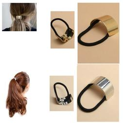 Ponytail Ring Hair Cuff Elastic Band Cover Rope Holder Women