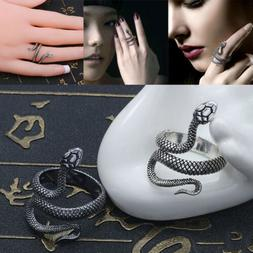 Punk Gothic Stainless Steel Snake Ring Open Adjustable Men W