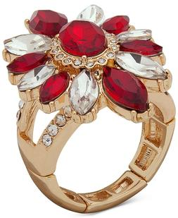 Anne Klein Red Stone Stretch Ring