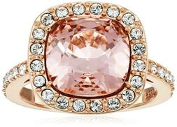 Rose Gold Plated Sterling Silver Ring Swarovski Crystal Amaz