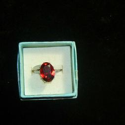 Fragrant Jewels ROYAL SATIN Ring 2018 Size 8 OVAL RUBY