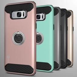 For Samsung Galaxy S8 Hybrid Armor Protective Ring Phone Cov