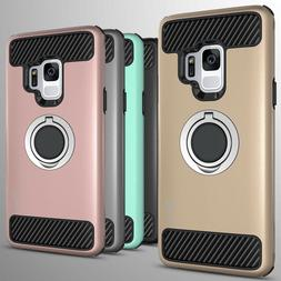 For Samsung Galaxy S9 Hybrid Armor Protective Ring Phone Cov