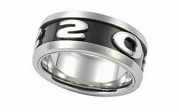 Size 18 Fossil Men's Ring Stainless Steel 57  Jf83566040
