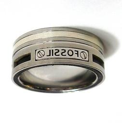 Size 20 Fossil Men's Ring Stainless Steel 63  Jf85420