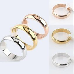 Size 5-12 Band Ring Polished Wedding Women Stainless Steel E