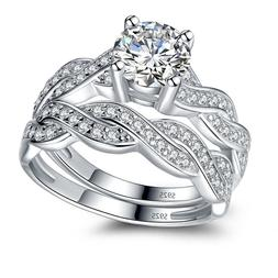 solid sterling silver infinity women s wedding