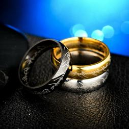 """Stainless Steel/Titanium """"Lord of the rings"""" Wedding Friends"""
