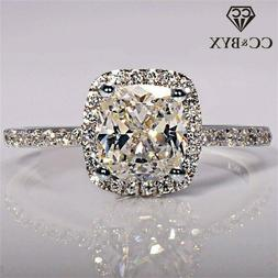 CC 925 Sterling Silver Rings For Women Bridal Wedding Ring