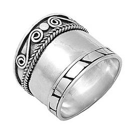 sterling silver woman s thick heavy bali
