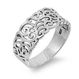 Sterling Silver Woman's Unique Fashion Ring Beautiful 925 Ba