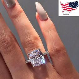 Sunshine Women Jewelry 925 Silver Rings White Sapphire Weddi