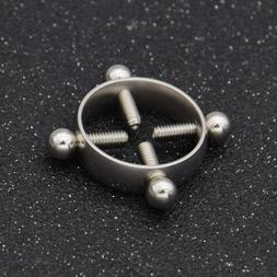 Surgical Steel Nipple Shield Rings Sexy Non Piercing Body Je
