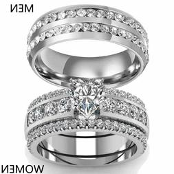 sz6 13 couple rings stainless steel mens