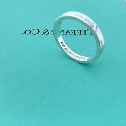 Tiffany & Co. Sterling Silver I Love You Notes Size 5 1/2 St