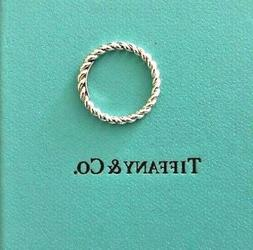 Tiffany & Co. Sterling Silver Size 5 1/2 Twist Rope Stacking