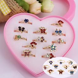 Wholesale 12pcs Mixed Assorted Flower Gold Silver Crystal Ad