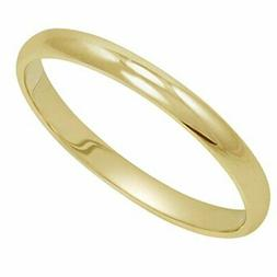 women s 14k yellow gold 2mm traditional