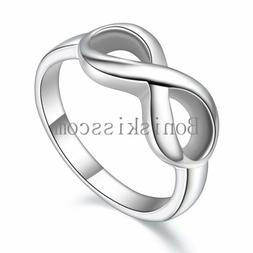 Women's Girls Infinity Love Promise Stainless Steel Band Fas