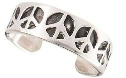 Women's New .925 Sterling Silver Retro Peace Sign Toe Ring